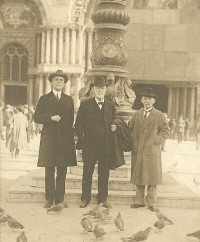 E. Y. Mullins, J. B. Gambrell, and D. C. Whitingill at St. Mark's Square in Venice