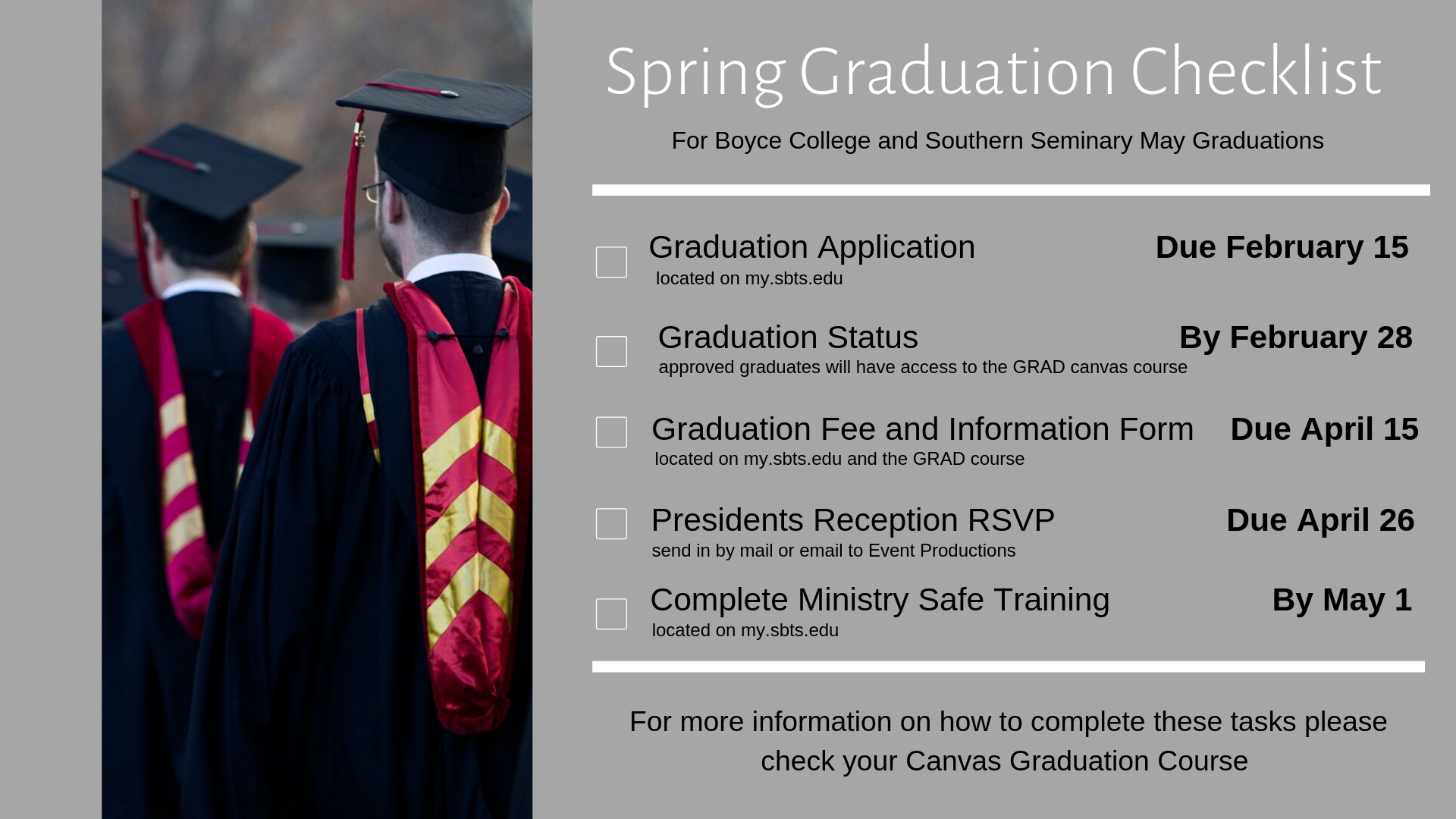 Duke Graduation 2020.Graduation Boyce College