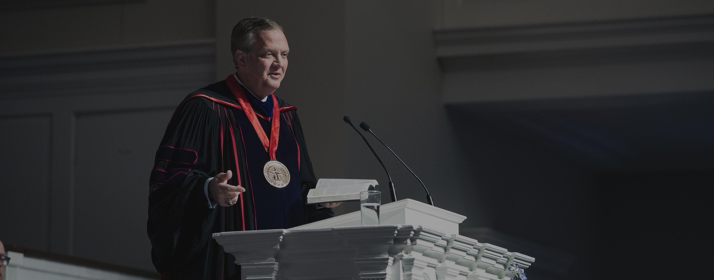 Dr. R. Albert Mohler Jr. at convocation