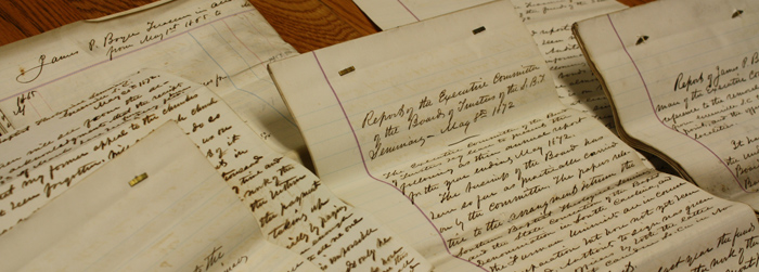 Collection of historic SBTS documents available for research