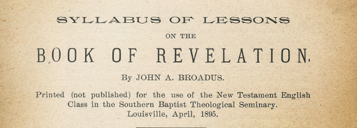 John Broadus and the Apocalypse