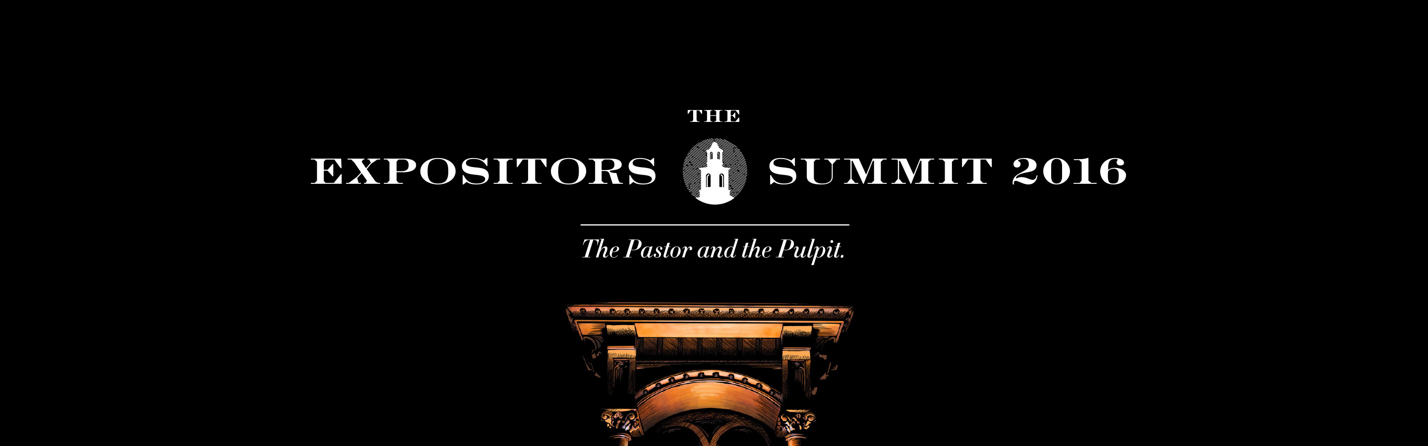 Banner advertisement for The Expositors Summit