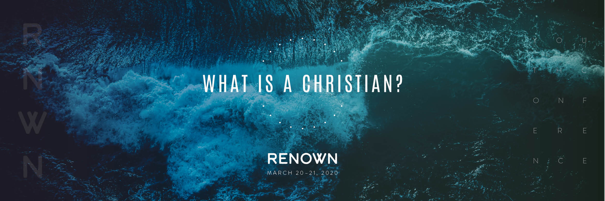 Banner advertisement for Renown Youth Conference
