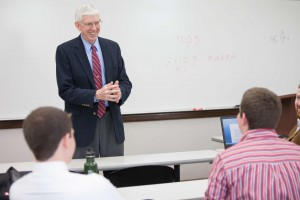 "Tom Nettles, professor of historical theology at The Southern Baptist Theological Seminary since 1997, teaches his final class session as a full-time faculty member at the school. The ""legendary"" professor has taught for more than 38 years, including at two Southern Baptist seminaries."