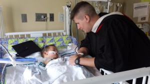 Jamin Bailey received his M.Div. from Southern Seminary while caring for his son, Ryker, in an Alabama hospital.