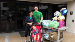 Jamin and Crystal Vu Bailey leave the hospital June 2 with Ryker, who is recovering from a life-threatening virus