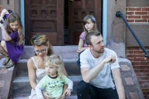 Joel Kurz, who planted the Garden Church in Baltimore, Maryland, in 2009, and his wife, Jess, (along with their children; from left: Eden, Haddon and Jadyn), explained the importance of inner city planting with reporters from Southern News.