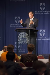 Seminary president R. Albert Mohler Jr. delivers the Commonweal Lecture, Sept. 3.