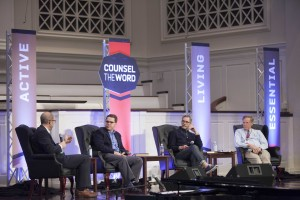 Seminary professor Jeremy Pierre moderated a discussion with Counsel the Word speakers Heath Lambert, Paul David Tripp, and David Powlison.