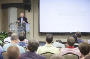 Wayne Grudem, research professor of theology and biblical studies at Phoenix Seminary, discusses a biblical view of the economy at Southern Seminary's Commonweal Conference, Sept. 26-27.