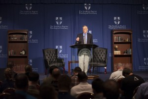 "David F. Wells lectures on the ""holy-love"" of God in the Gheens Lectures at The Southern Baptist Theological Seminary, Sept. 24-25."