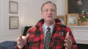 Southern Seminary President R. Albert Mohler Jr. dons a Boyce-branded jacket in a Feb. 2 video message to students of Northland International University in Dunbar, Wisconsin.