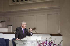 Ken Whitten, pastor at Idlewild Baptist Church in Tampa, Florida, preaches a chapel message at Southern Seminary, March 10.