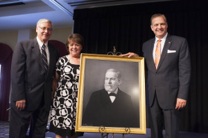 Southern Seminary presented Robert Vogel with a portrait of seminary co-founder John Broadus. Vogel completed a master's-level thesis on Broadus' preaching textbook.