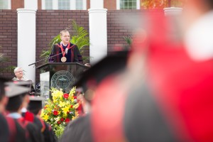 President R. Albert Mohler Jr. delivers a May 14 commencement address at The Southern Baptist Theological Seminary.