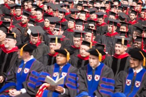 During the May 14 commencement, 286 master's and doctorate students received their degrees.