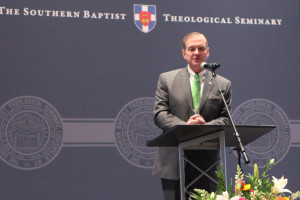 Southern Seminary President R. Albert Mohler Jr. delivers a June 17 address at the Southern Seminary Alumni and Friends Luncheon at the Southern Baptist Convention.