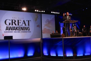 Southern Seminary President R. Albert Mohler Jr. presents the June 16 report to messengers at the Southern Baptist Convention annual meeting.