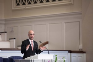 Nick Floyd preaches at Southern Seminary chapel, Sept. 9