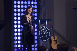 Rosaria Butterfield, former lesbian and LGBT activist, talks at ACBC conference.