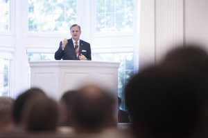 Southern Seminary President R. Albert Mohler Jr. delivers a special Oct. 14 message in Broadus Chapel during the institution's annual Heritage Week.