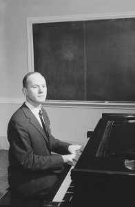 Hinson in a 1957 faculty photo. He is the most widely published of any faculty member in seminary history.