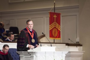 R. Albert Mohler tells Southern Seminary graduates to preach the gospel to a troubled world  during the Dec. 11 commencement.