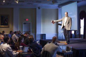 Jeremy Pierre, associate professor of biblical counseling at Southern Seminary, explains his counseling method at Winter Alumni Academy, Jan 7-8.