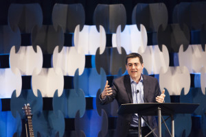 Russell Moore, president of the Ethics and Religious Liberty Commission, spoke to attendees of the March 18-19 Driven By Truth conference on the importance of worldview and ethics.