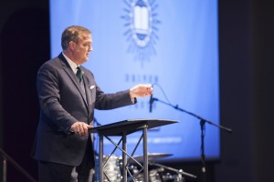 "Southern Seminary President R. Albert Mohler Jr. encouraged attendees at the March 18-19 Driven By Truth conference to ""offer an apologetic of love."""