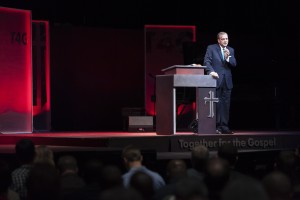 """Justification by faith alone is not one doctrine among others. It's not one way merely of describing the gospel; it is the gospel and it is the gospel alone that produces a true church,"" said R. Albert Mohler during his T4G address, March 12."