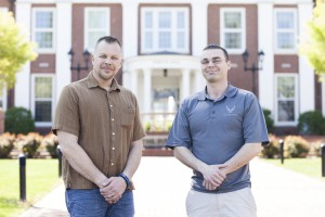 Army veteran Scott Carter (left) and military chaplain Raymond Lowdermilk (right) at Southern Seminary