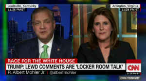 "Southern Seminary President R. Albert Mohler appears with Charmaine Yoest on ""CNN Tonight"" to discuss Trump and evangelicals."