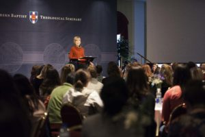 Joni Eareckson Tada speaks at the Feb. 10 Southern Seminary Student Life Conference on disability ministry.