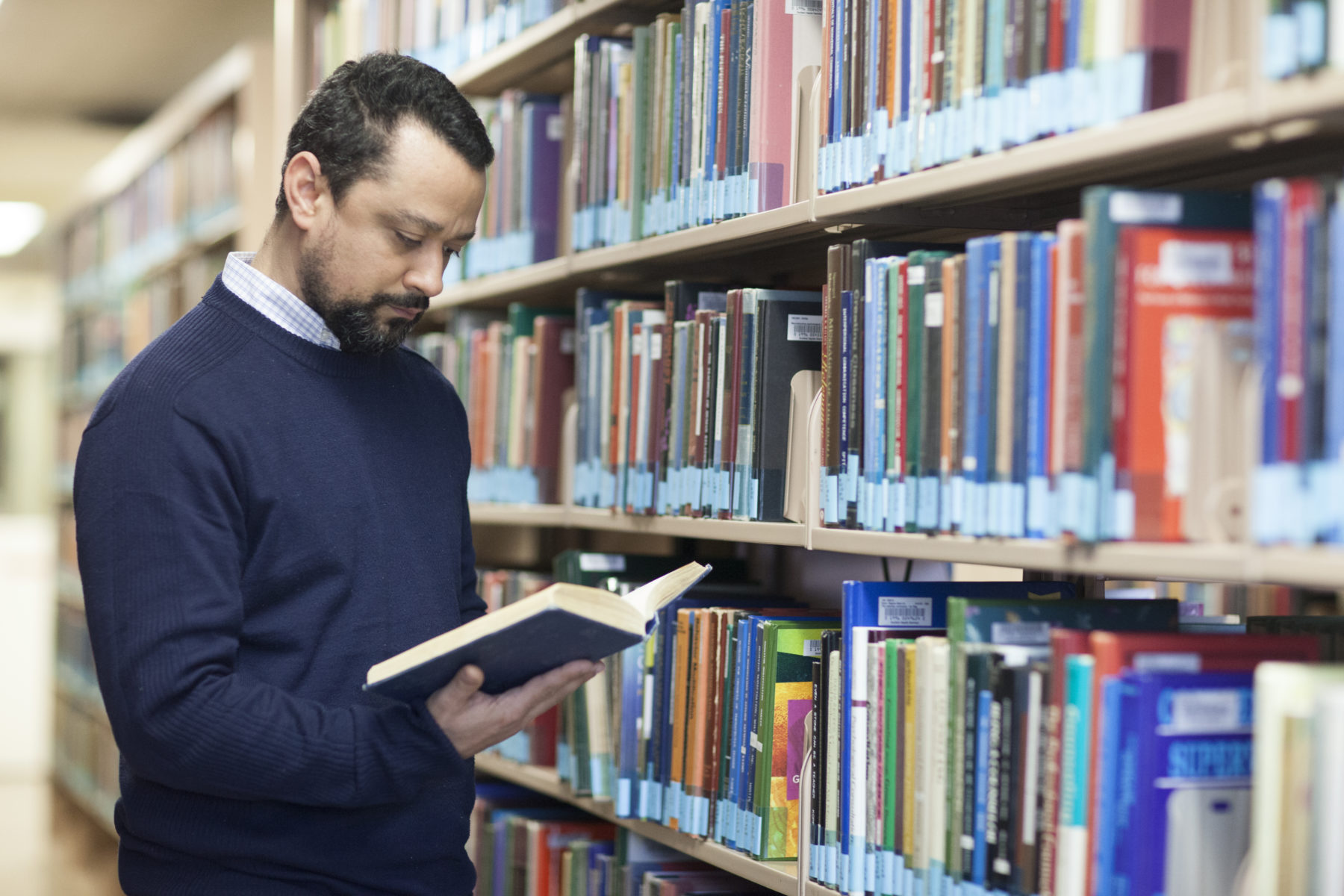 Standing in Library