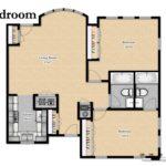 Sample 2-BR floorplan