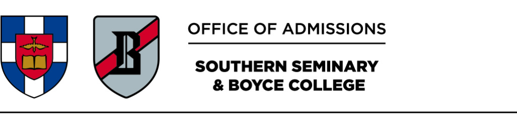Southern Seminary and Boyce College Office of Admissions
