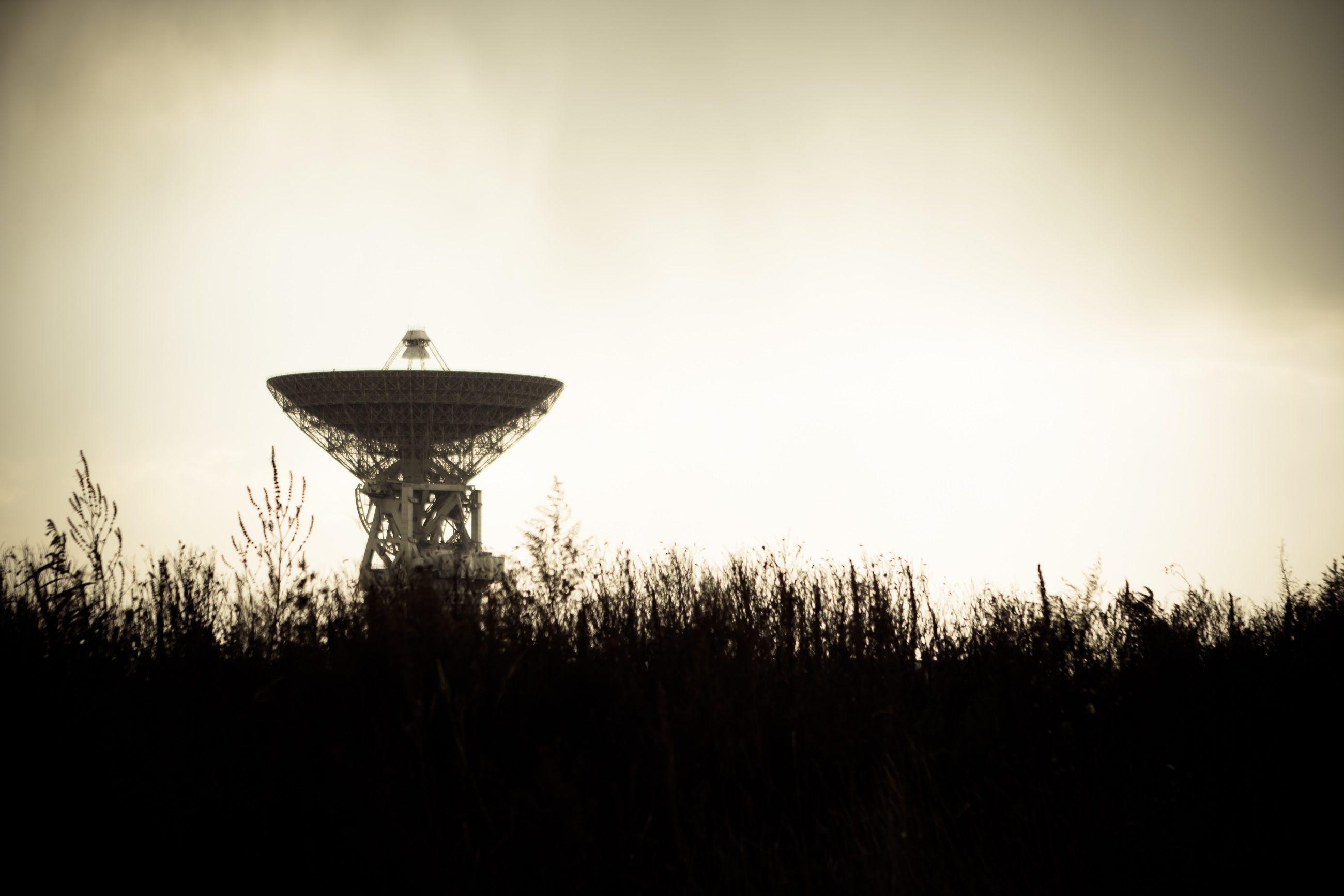 Satellite pointed upward